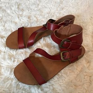 Brown Gladiator Sandals Size 6
